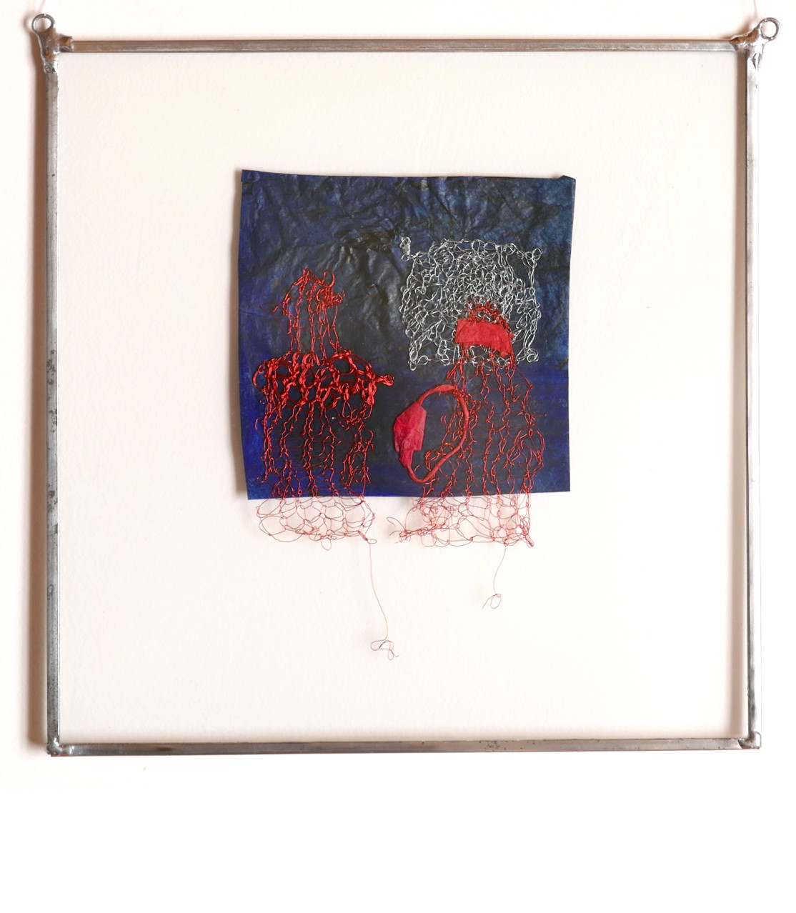 ARABESQUE - deux femmes voilées, 2016 Broderie d'acier et papier (25X25cm) - Inv. 00063 VENDU
