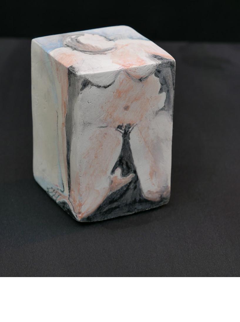 NU, 2014 céramique - engobe - émail et cire (13x8.5x9cm)   -  Inv. 00093 (+) DÉTAILS