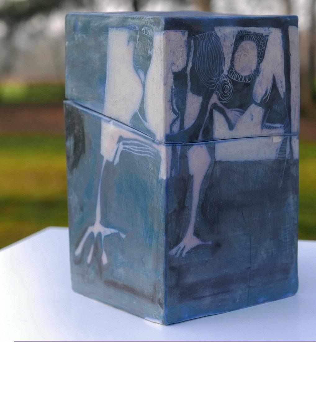 MEMOIRE, 2016 céramique - engobe - émail et cire (26x26x16cm) - Inv. 00104 (+) DÉTAILS