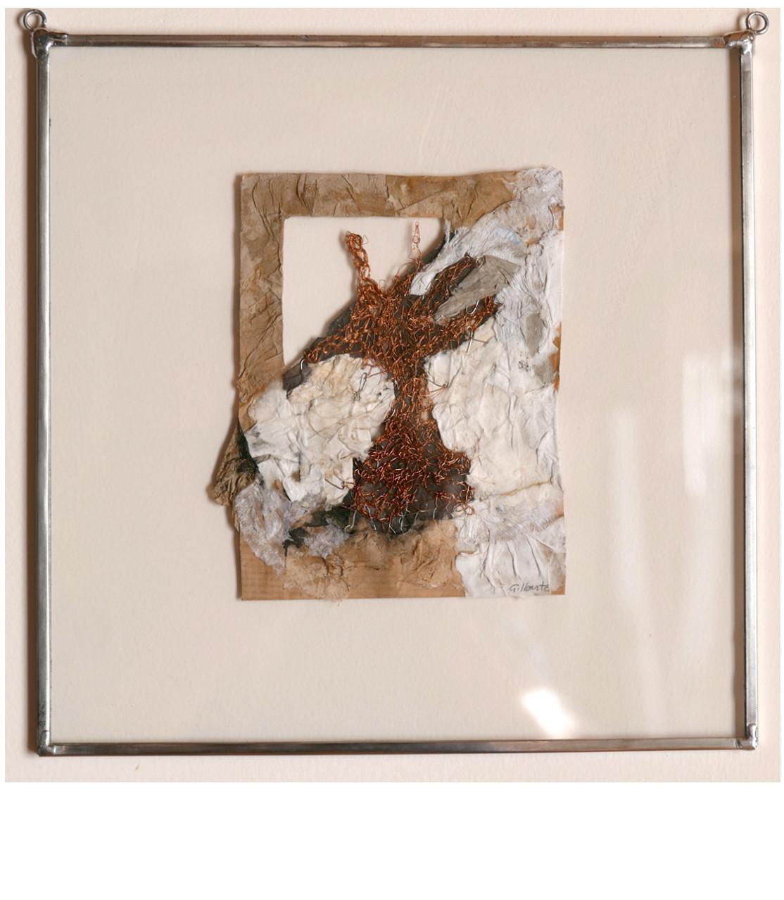 RESINIFERE, 2016 Broderie d'acier et papier (25X25cm) - Inv. 00061 (+) DÉTAILS