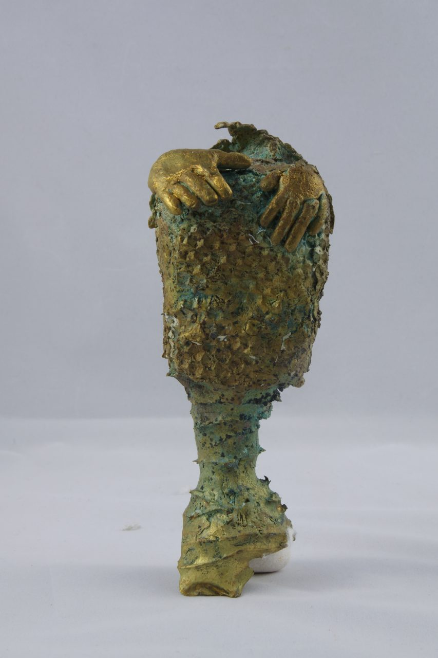 MAIN 5, 2016 bronze à la cire perdue (17x7x7cm) Inv. 00150
