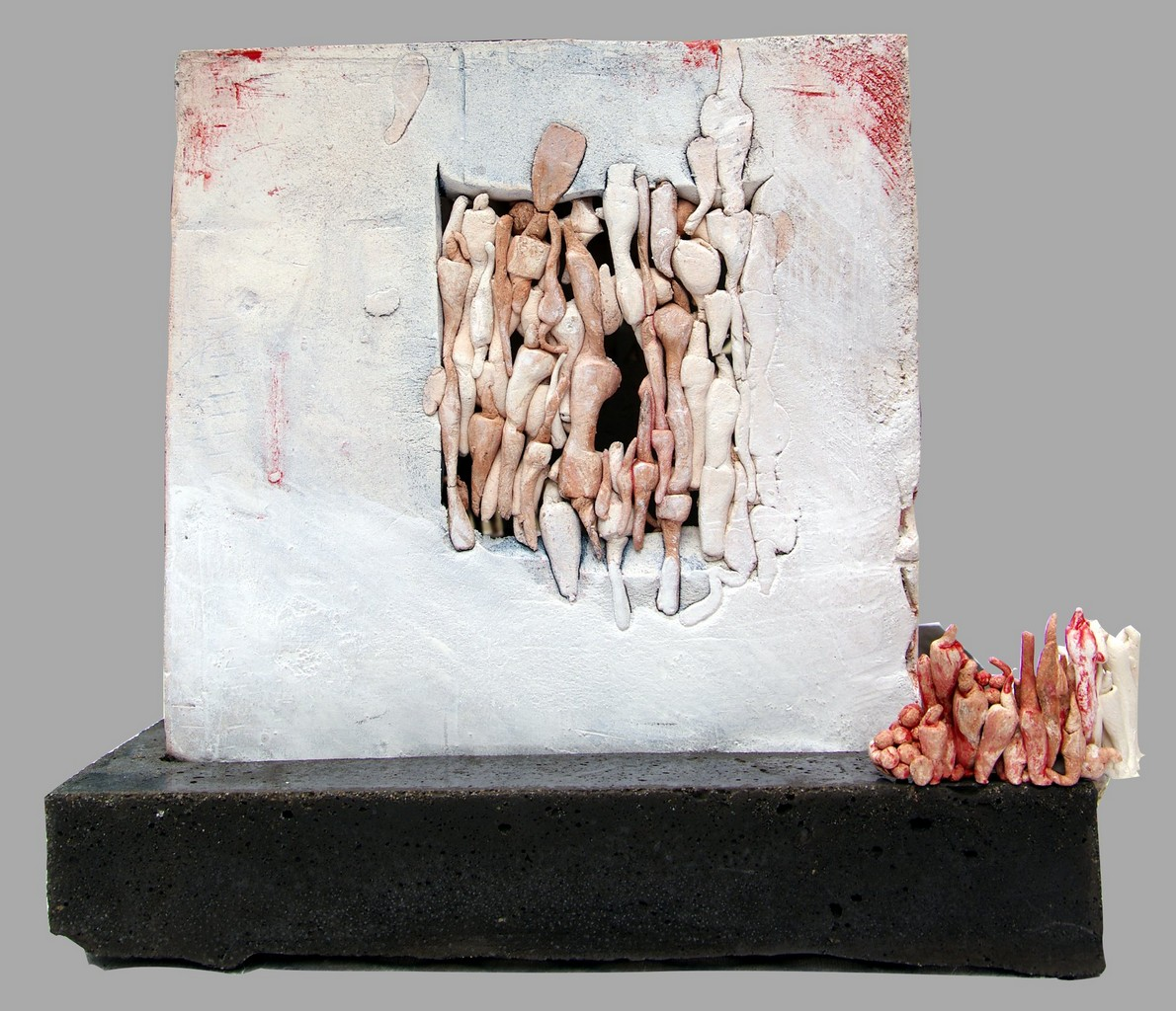 VISITE, 2012 céramique polie, cirée (21x20x21cm) Inv. 00002 vendu