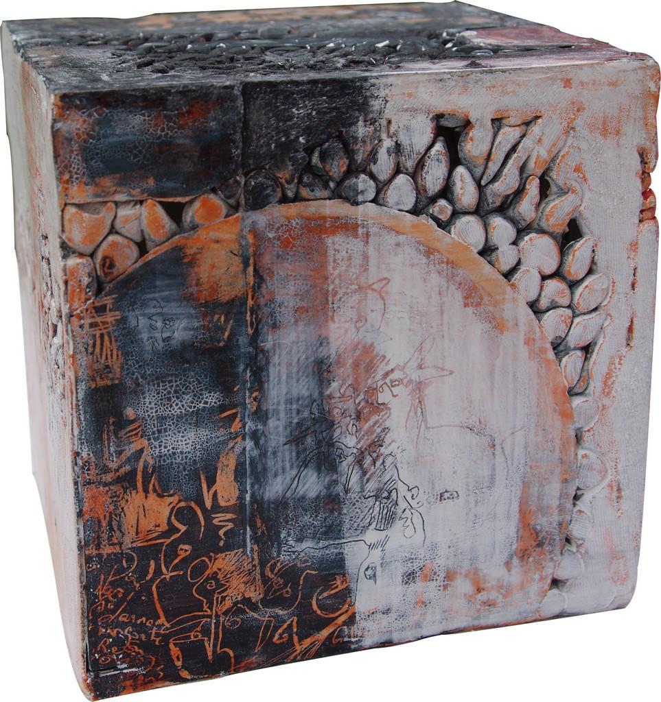 CRECHE, 2012 céramique polie, cirée (25x20x21cm) Inv. 00003