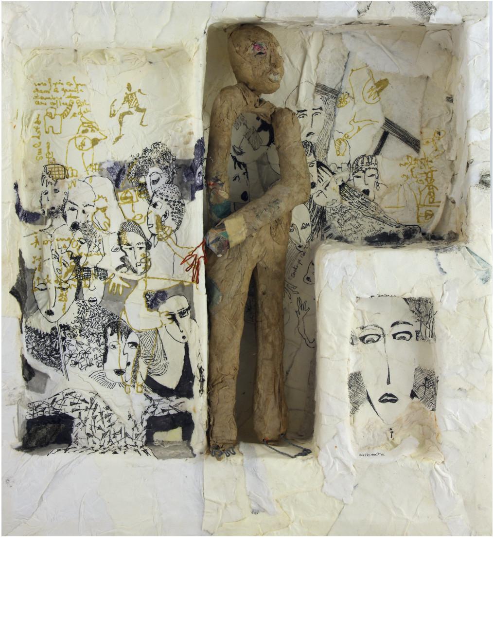 ANONYME, 2014 boîte papier mâché (29x31x5cm) - Inv. 00033 (+) DÉTAILS