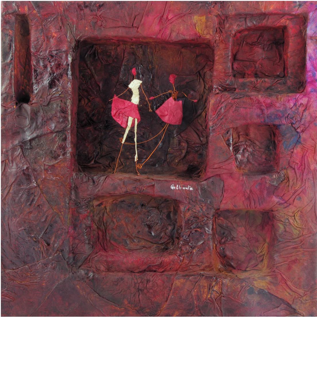 SANGUIN, 2014 boîte papier mâché (28x28x5cm) - Inv. 00037 (+) DÉTAILS