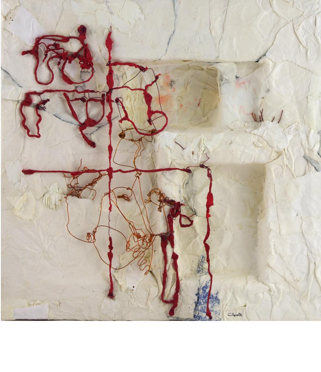PAGAILLE, 2014 boîte papier mâché (28x28x5cm) - Inv. 00090 (+) DÉTAILS