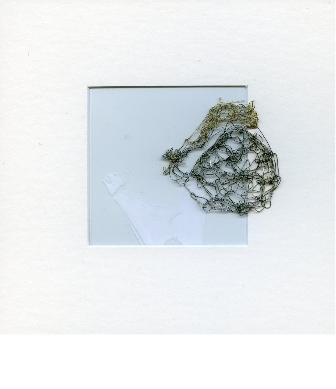 , 2018 Broderie d'acier et papier (20 X 20 cm) - Inv. 00217