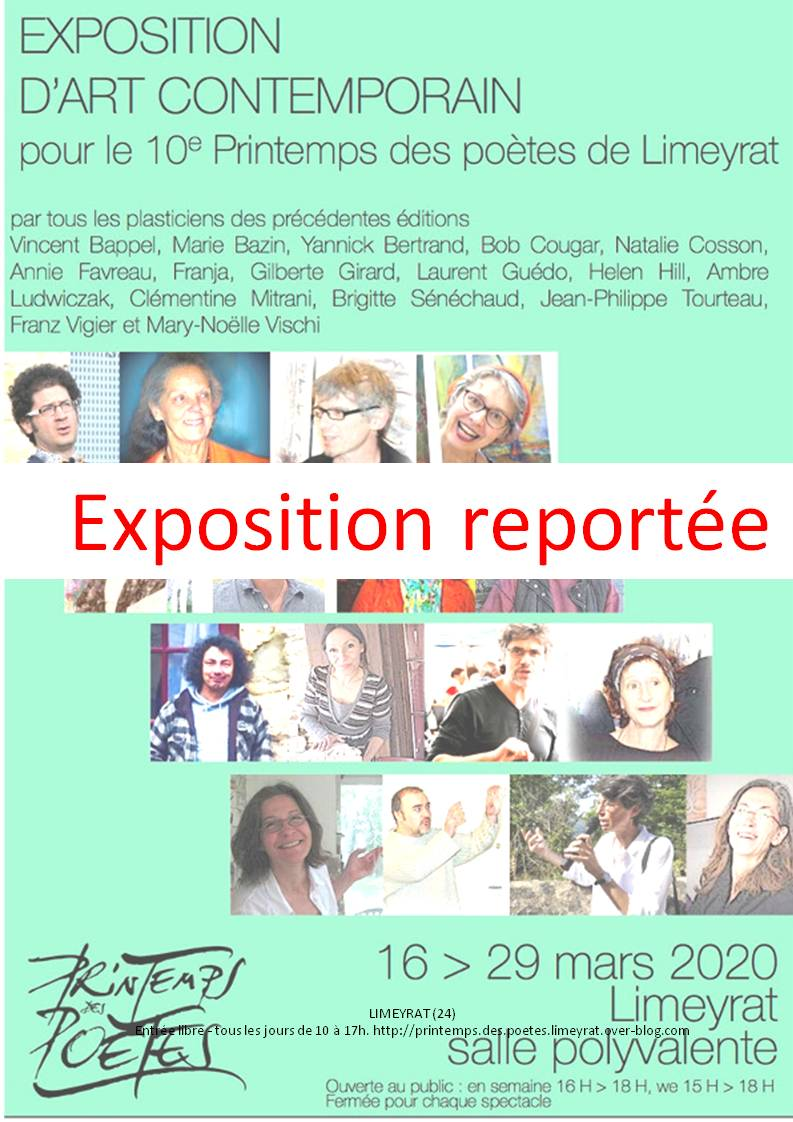 affiche exposition reportée