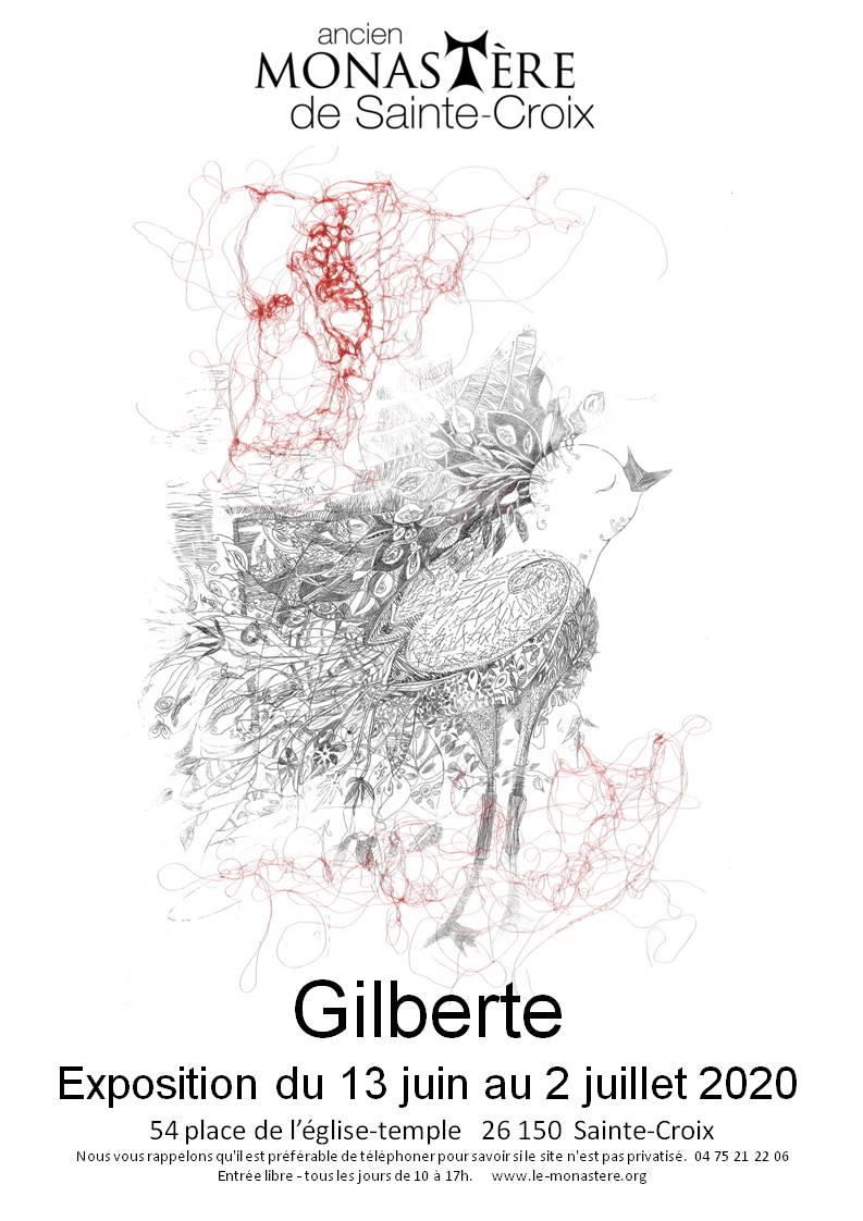 AFFICHE GILBERTE SAINTE CROIX